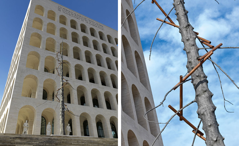 Giuseppe penone matrice at palazzo della civilt for Palazzo della civilta italiana fendi